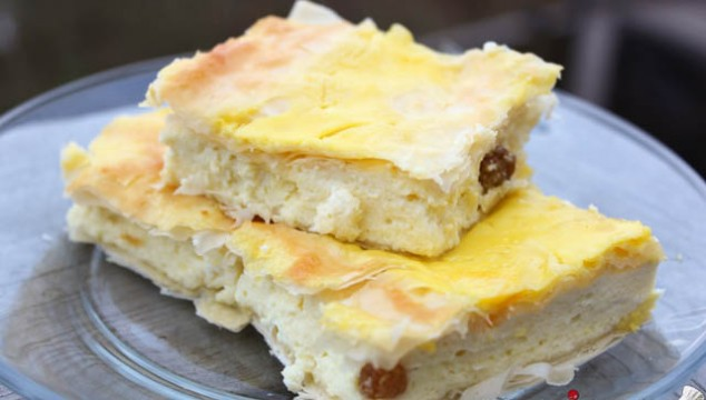 Cheese Filled Phyllo Pie - Placinta cu Branza