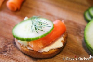 Smoked Salmon & Cucumber Appetizer