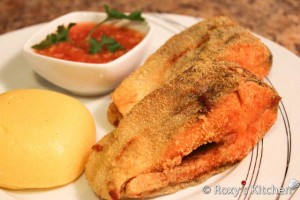 Fried Trout with Tomato & Garlic Sauce