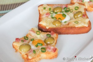Quail Eggs & Bacon Toast / Paine prajita cu oua de prepelita si bacon