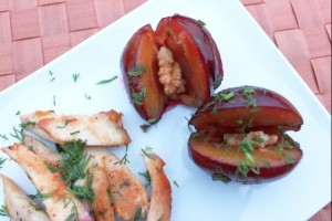 Chicken Breast with Plums