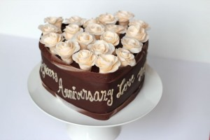 Chocolate Hazelnut Heart-Shaped Cake - 2013 Wedding Anniversary