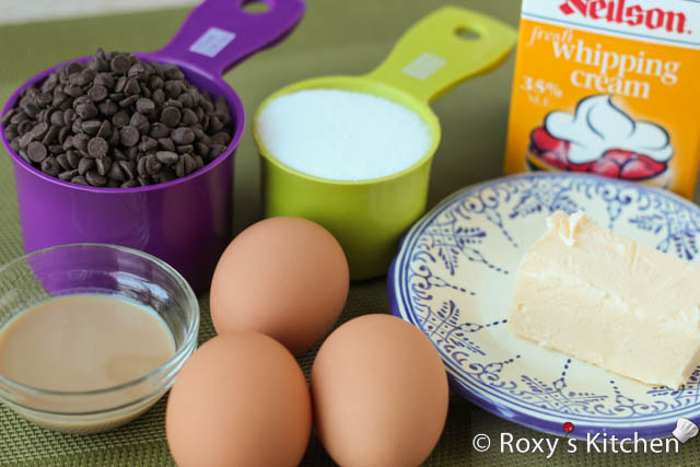 Chocolate Mousse Cake - Ingredients