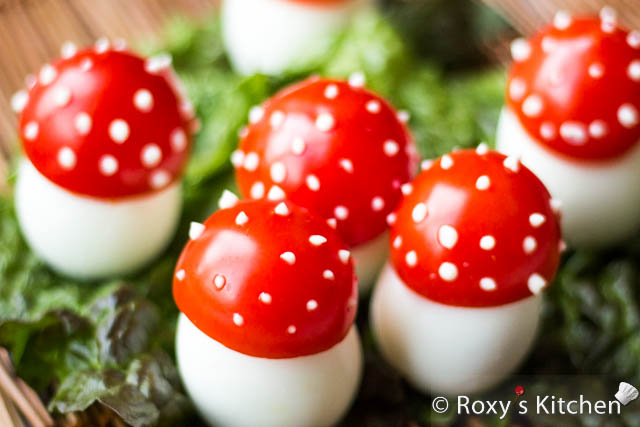 Mushrooms Made of Eggs - Fun Appetizer For Kids