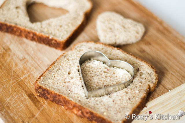 Easy and Creative Ideas for Valentine's Day - Use a heart-shaped cookie cutter to make a heart in your toast