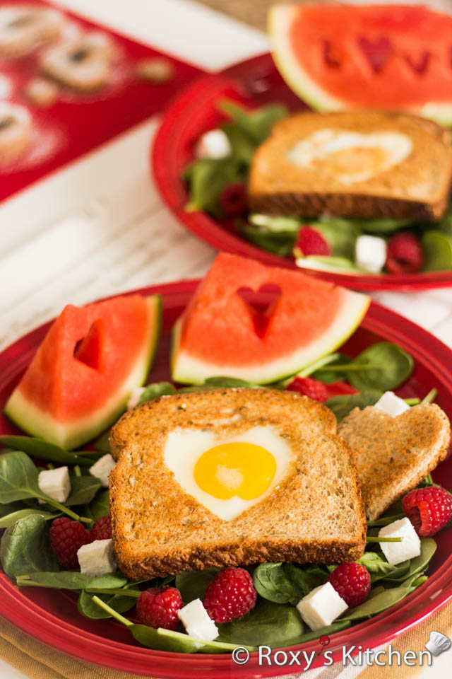 Easy and Creative Ideas for Valentine's Day - Heart-Shaped Egg in a Toast
