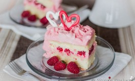 Raspberry Cream Cheese Buttercream Cake - Heart-Shaped Cake for Valentine's Day