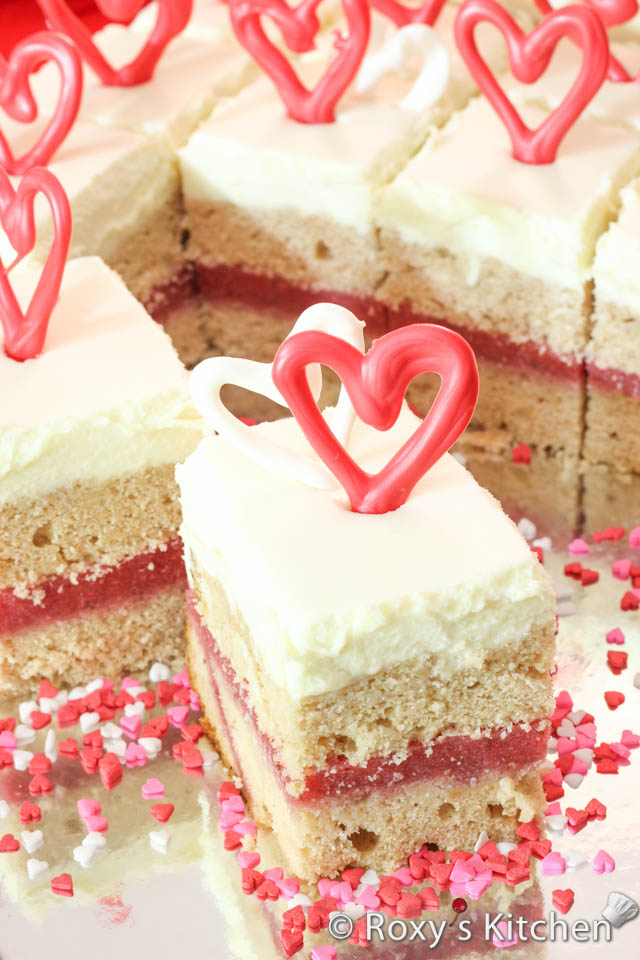 Valentine's Day Dessert - Strawberry & White Chocolate Squares