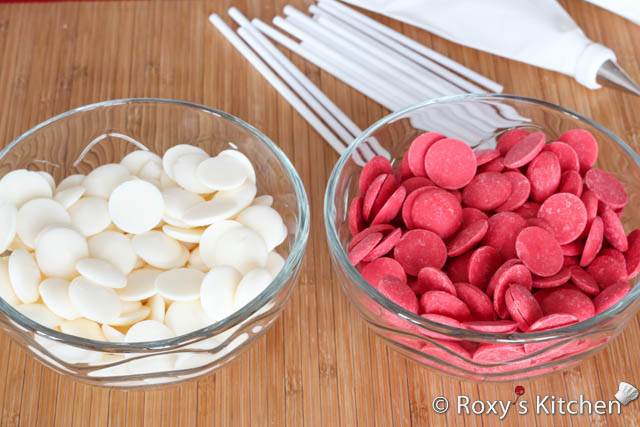 Valentine's Day Cakepops - Wilton and Merckens candy melts