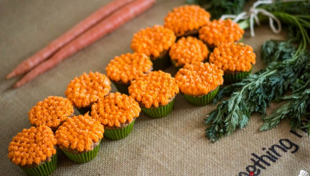 Carrot Made out of Cupcakes for Easter