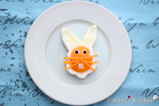 Easter Bunny Face Made Out Of Eggs: Cutest Breakfast for Kids - Roxy's Kitchen