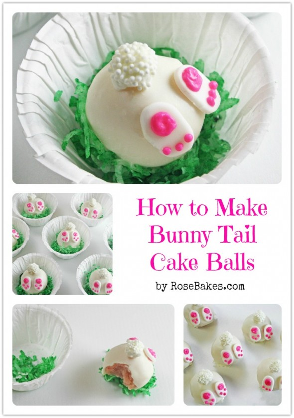 30 of the Best Easter Recipes & DIY Ideas - Roxy's Kitchen - How to Make Bunny Tail Cake Balls