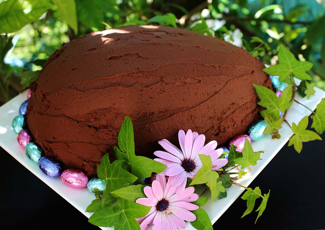 30 of the Best Easter Recipes & DIY Ideas - Roxy's Kitchen - Chocolate Easter Egg Zucotto