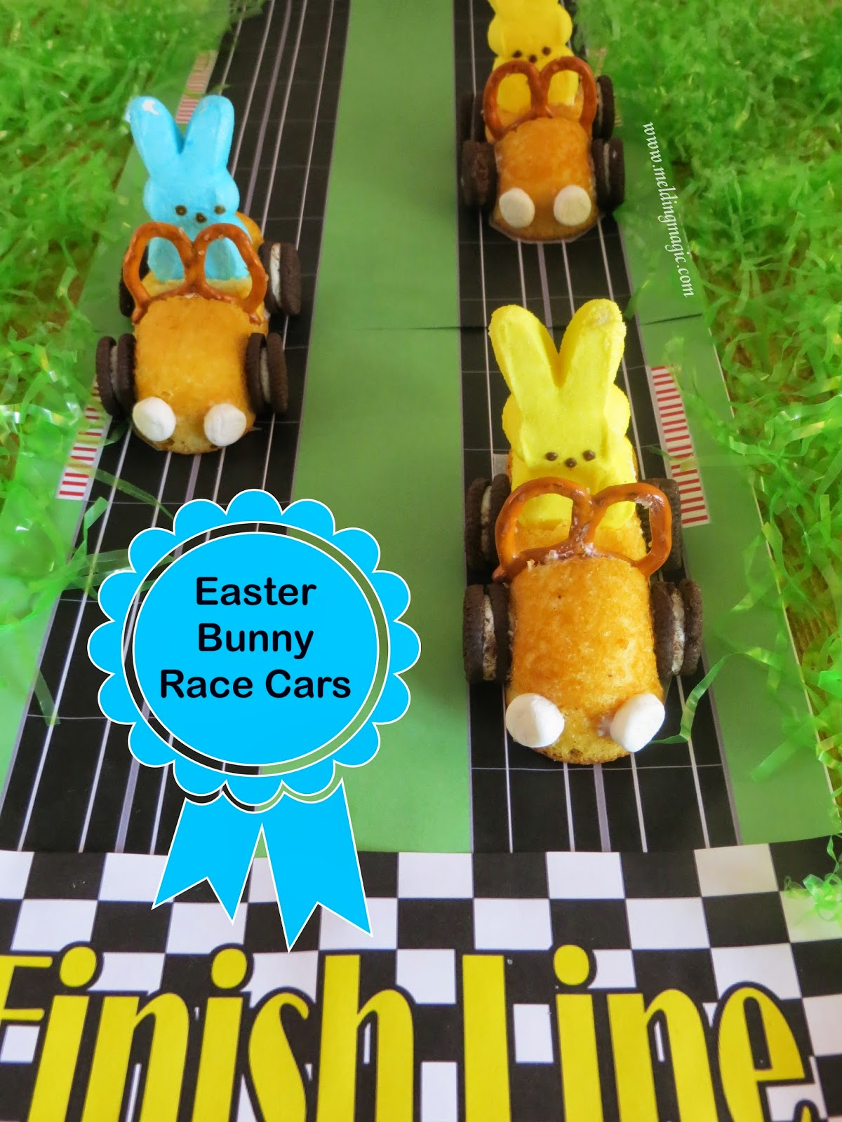30 of the Best Easter Recipes & DIY Ideas - Roxy's Kitchen - Easter Bunny Race Cars