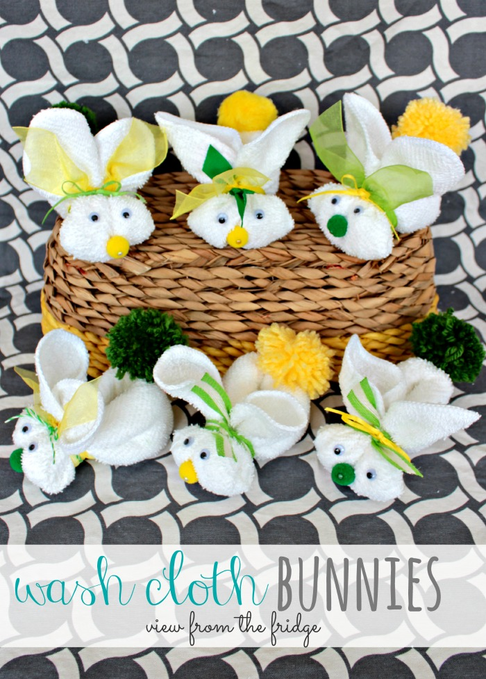 30 of the Best Easter Recipes & DIY Ideas - Roxy's Kitchen - Washcloth Bunnies