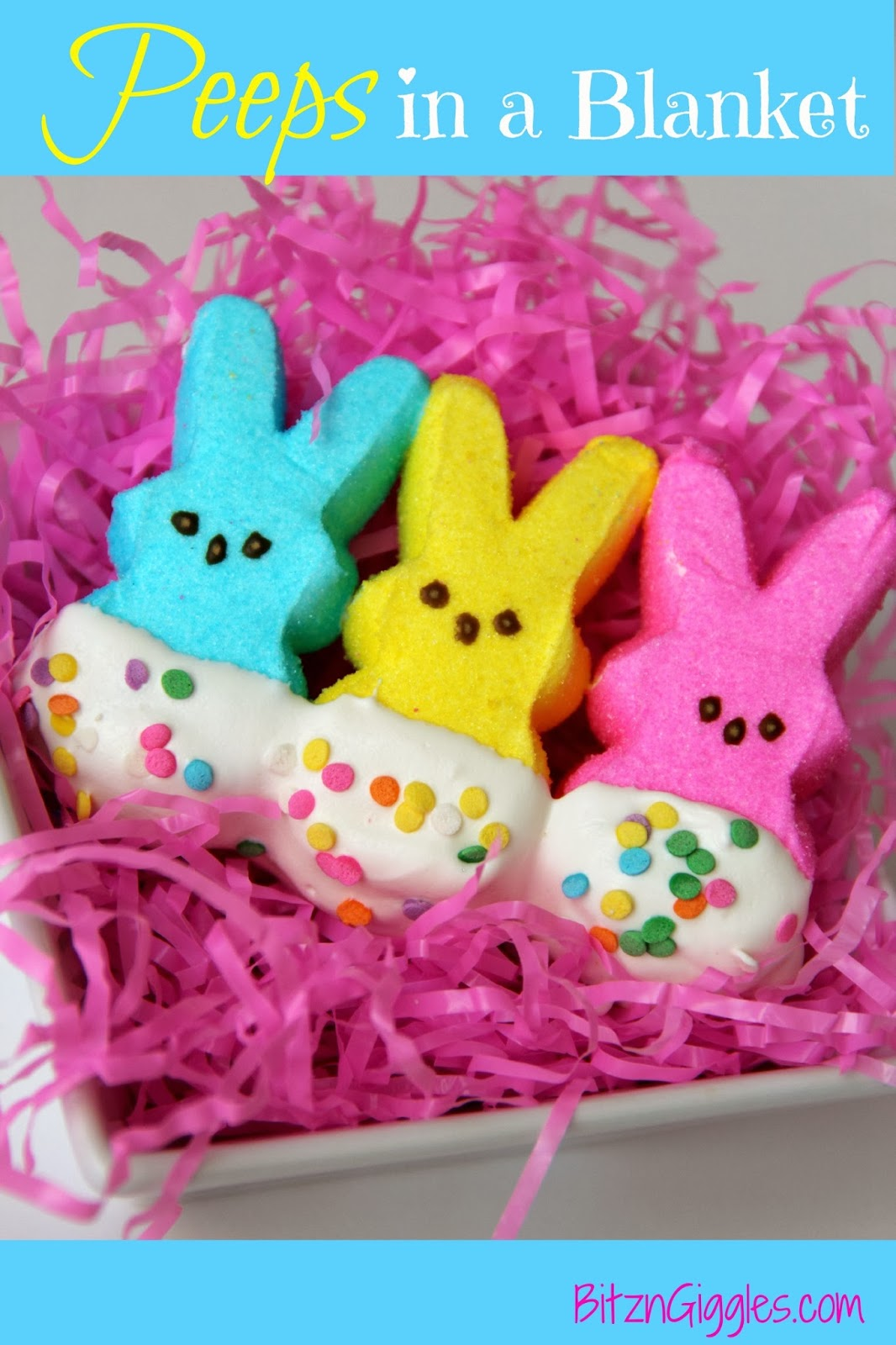 30 of the Best Easter Recipes & DIY Ideas - Roxy's Kitchen - Peeps in a Blanket