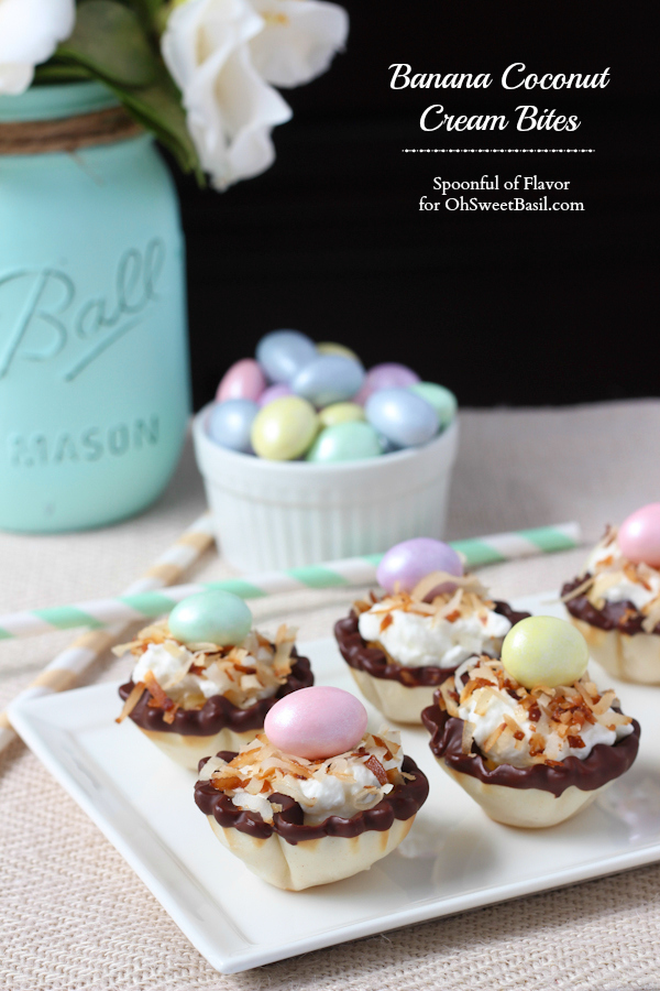 30 of the Best Easter Recipes & DIY Ideas - Roxy's Kitchen - Banana Coconut Cream Bites