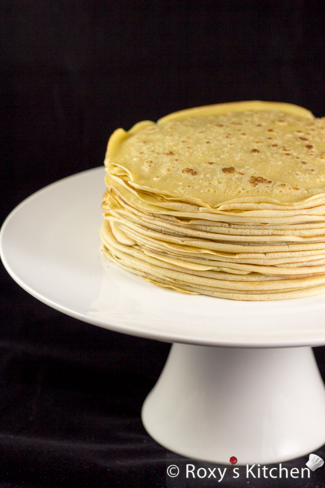 Nutella Crepe Cake – A Unique and Simple Easter Dessert - Make your crepes… the more the merrier!