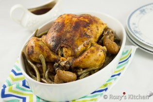 5-Ingredient Slow Cooker Whole Chicken with Veggies | Roxy's Kitchen