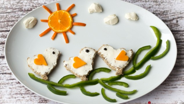 Wordless Wednesdays - Spring is Finally Here! | Roxy's Kitchen #foodart #Spring #FunnyFood #Birds #Tree