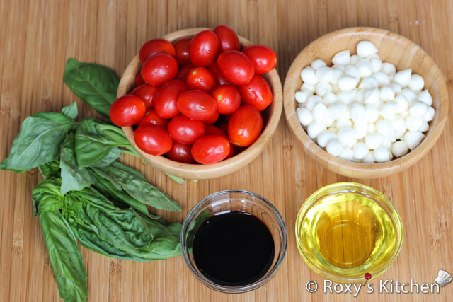 Caprese Salad for Canada Day - Ingredients