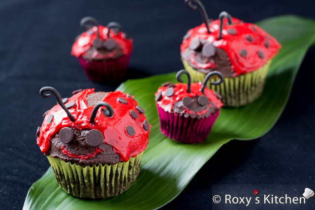 Quick And Easy Ladybug Cupcakes Roxy S Kitchen