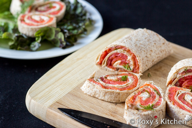 Ingredient Smoked Salmon Cream Cheese Roll-Ups - Roxy's Kitchen