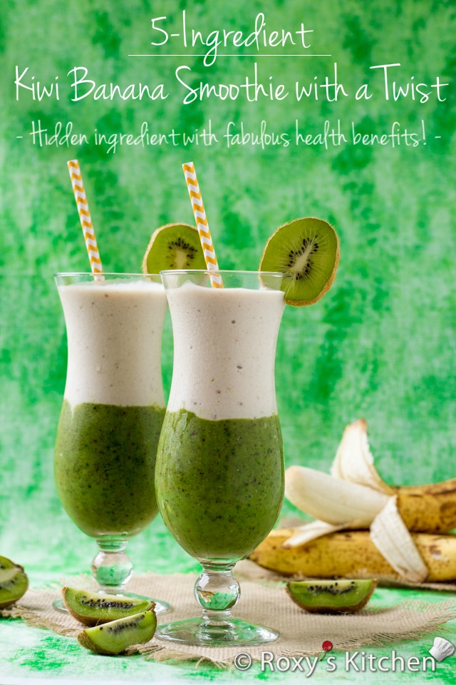 Kiwi Banana Smoothie with a Twist - This layered smoothie is perfect ...