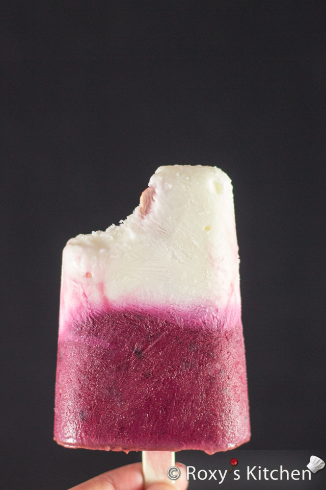 Cherry Vanilla Yogurt Popsicles | Roxy's Kitchen A super- nutritious, all-natural & a fabulous low-calorie treat for your diet, packed with calcium, power boosting protein, vitamins A, C & B and antioxidants
