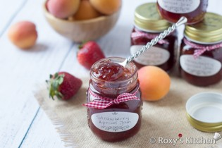 4-Ingredient Homemade Strawberry Apricot Jam