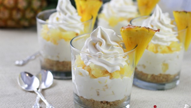 5-Ingredient No-Bake Pineapple Cheesecakes in a Cup | Roxy's Kitchen