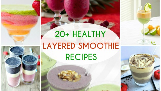 20+ Amazingly Healthy Layered Smoothie Recipes | Roxy's Kitchen Learn how to make the perfect layered smoothies from the best bloggers! #HealthyEating #Drinks #SmoothieRoundup