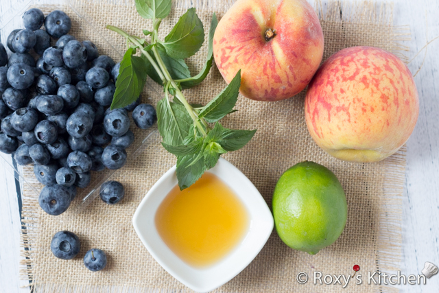 Peach Blueberry Fruit Salad with Honey-Lime Dressing ...