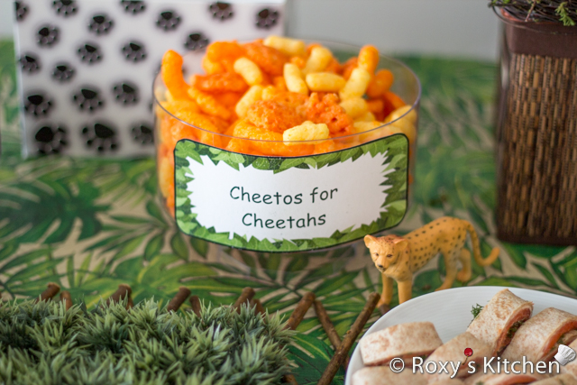 Safari / Jungle Themed First Birthday Party Part II – Appetizers, Finger Foods & Snack Ideas - Cheetos