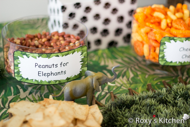 Safari / Jungle Themed First Birthday Party Part II – Appetizers, Finger Foods & Snack Ideas - Peanuts for Elephants
