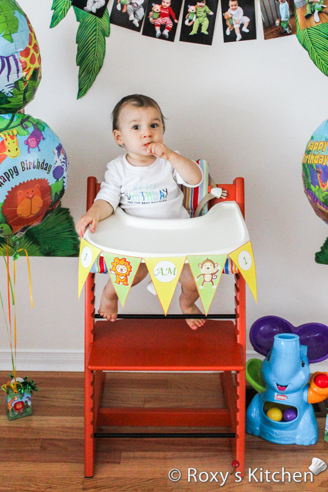 Safari Jungle Themed First Birthday Party - DIY High Chair Banner, FREE Printable Included!