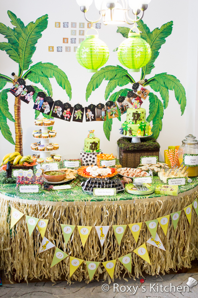 safari jungle themed first birthday party part iii diy decoration ideas free printables. Black Bedroom Furniture Sets. Home Design Ideas