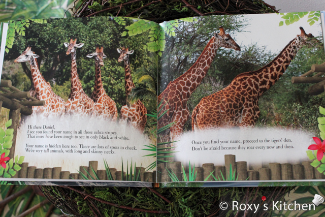 Custom Book as a First Birthday Gift - Daniel Goes to the Zoo!  #giraffes
