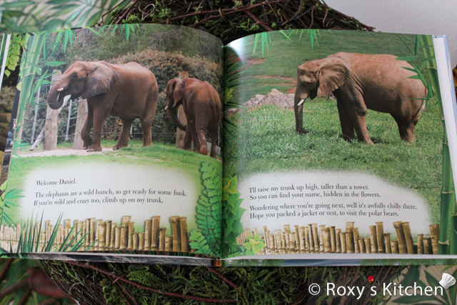 Custom Book as a First Birthday Gift - Daniel Goes to the Zoo!  #elephants