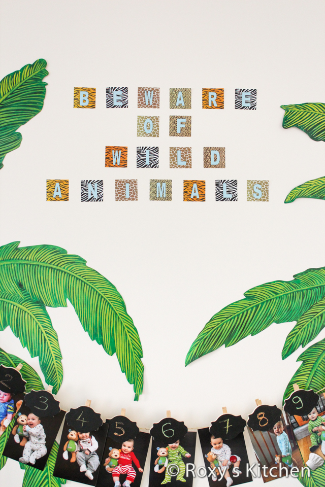 Safari Jungle Themed First Birthday Party - 'Beware of Wild Animals' FREE Printable!