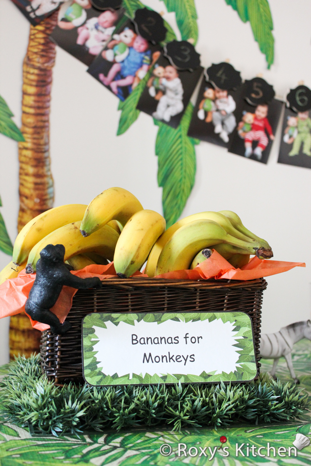 Safari / Jungle Themed First Birthday Party - Dessert Ideas: Bananas