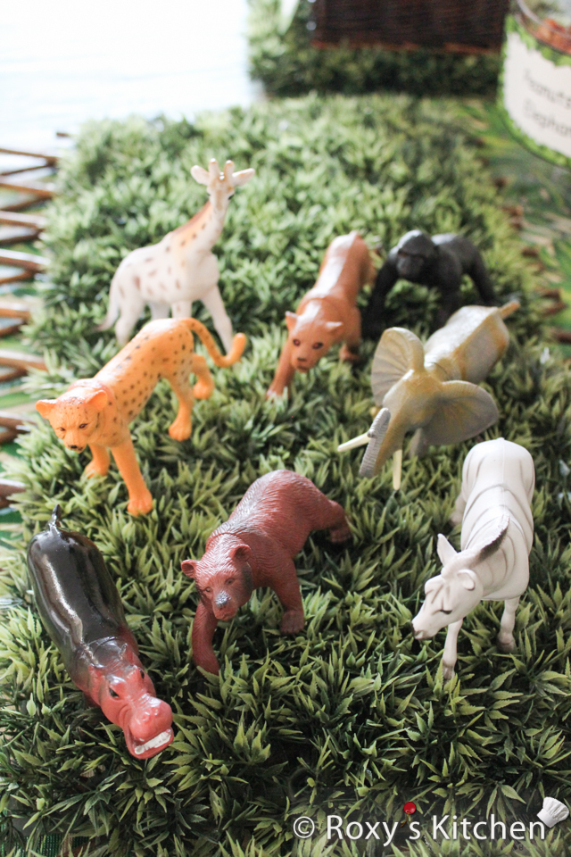 Safari / Jungle Themed First Birthday Party Part - Cheap Party Supplies & Decorations - Safari Toy Animals