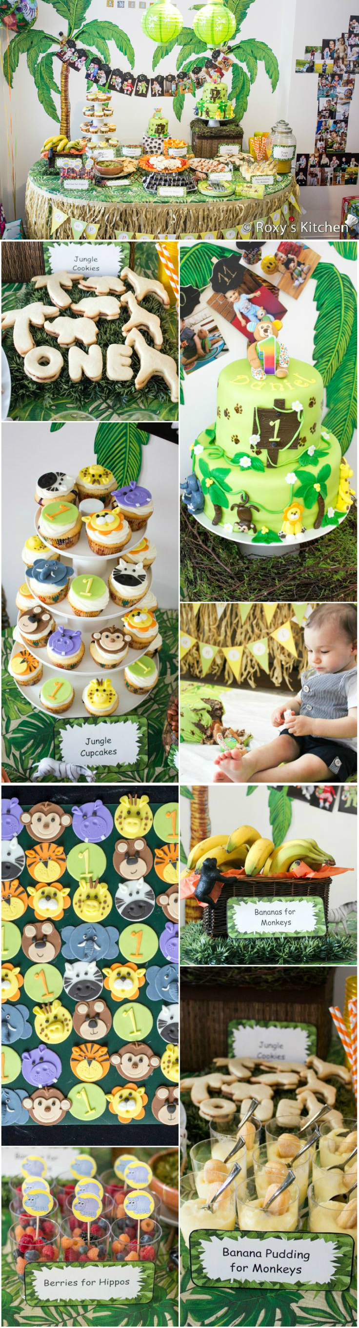 Safari jungle themed first birthday party part i for Animals decoration games