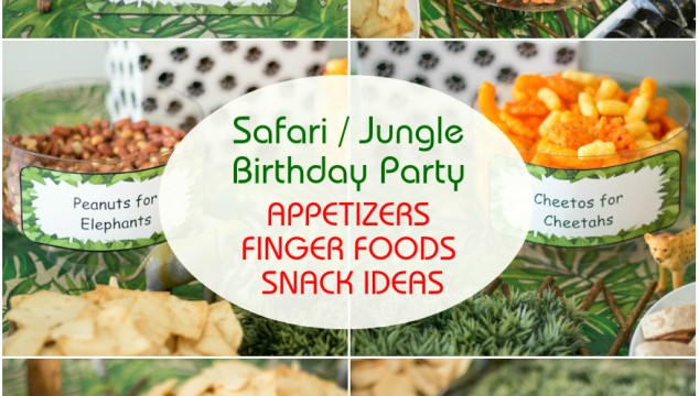 Safari Jungle Themed First Birthday Party Part II Appetizers Finger Foods Snack