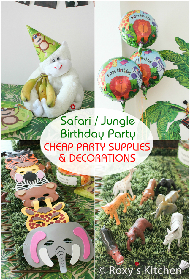 Safari jungle themed first birthday party cheap party for Animals decoration games