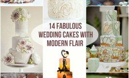 14 Fabulous Wedding Cakes with Modern Flair - Roxy's Kitchen - If you're looking for something unique, you might want to order a Love Story Wedding Cake or the Chalkboard Wedding Cake. If you're a fan of weddings with a rustic vibe then take a look at the Naked Cakes decorated with fresh fruit or flowers. Naked cakes are essentially sponge cakes that are not covered with icing and they are truly the biggest trend ever to hit wedding cakes!