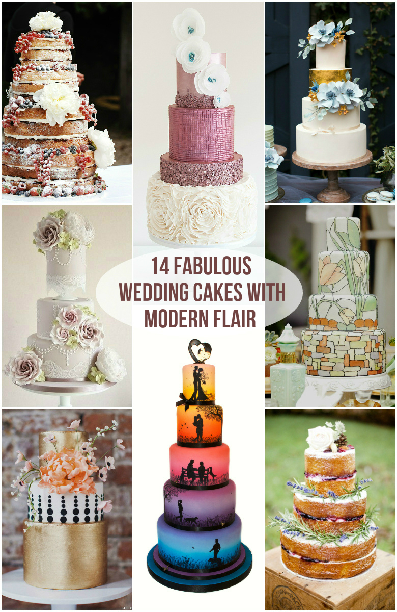 14 Fabulous Wedding Cakes With Modern Flair Roxy S Kitchen