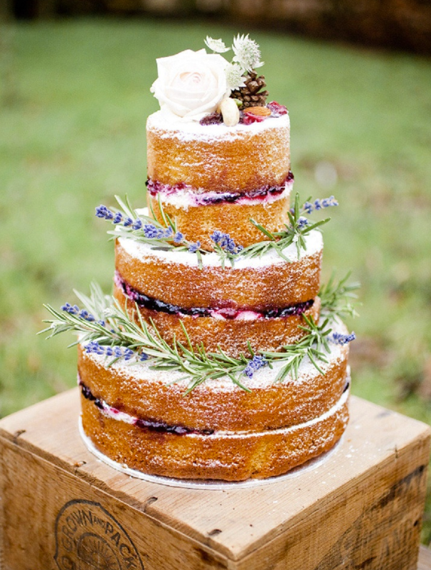 Provence inspired naked wedding cake check out 14 fabulous wedding