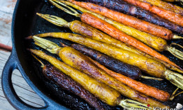 Balsamic Oven-Roasted Rainbow Carrots