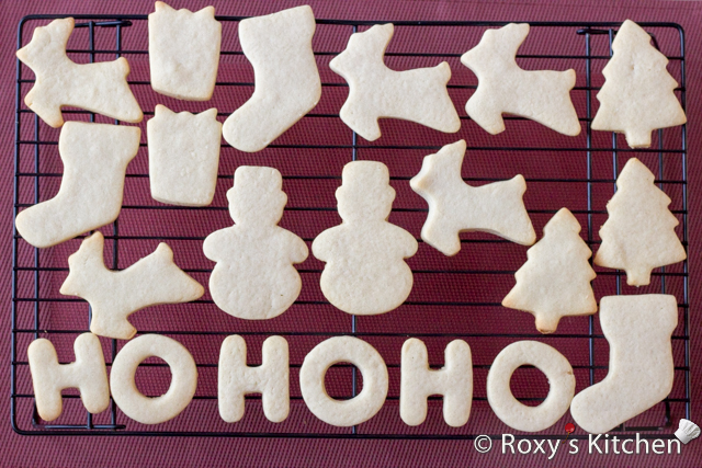 Christmas Sugar Cookies Covered with Modeling Chocolate - HO HO HO, snowmen, reindeer, Christmas trees, stockings & presents